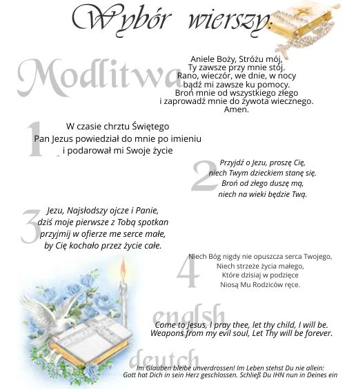 Wiersze modlitwa